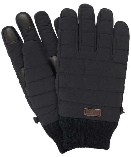Men's Barbour Banff Quilted Gloves - Black
