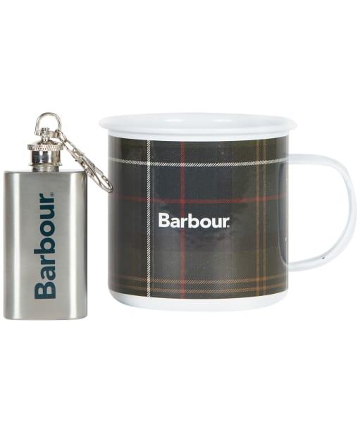 Men's Barbour Mug And Mini Flask - Classic Tartan