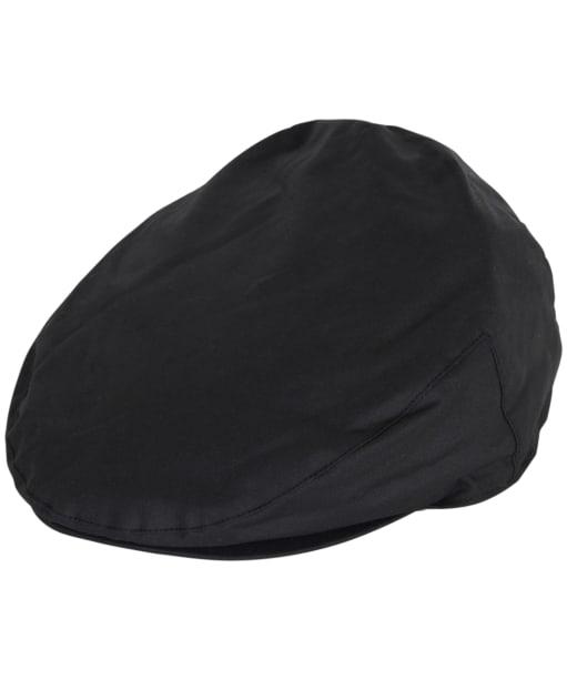 Men's Barbour Waxed Flat Cap - Black / Winter Red