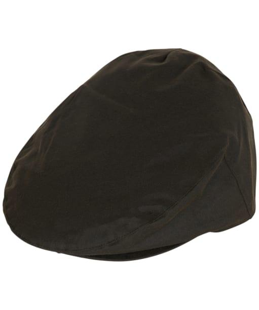 Men's Barbour Waxed Flat Cap - Olive