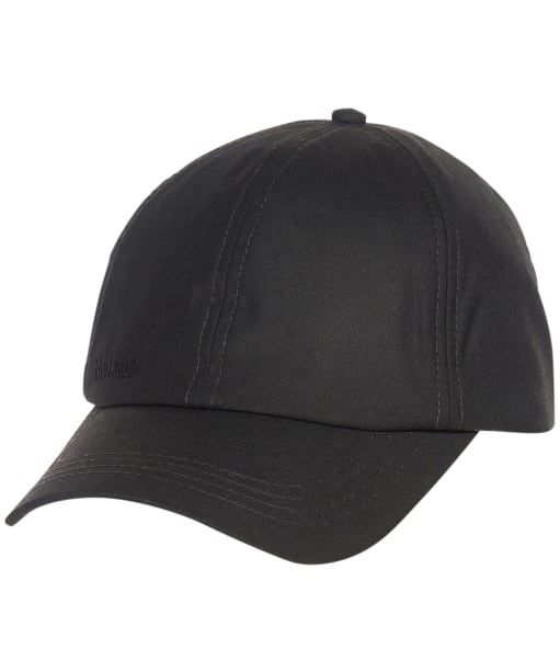 Men's Barbour Waxed Sports Cap - Black / Winter Red