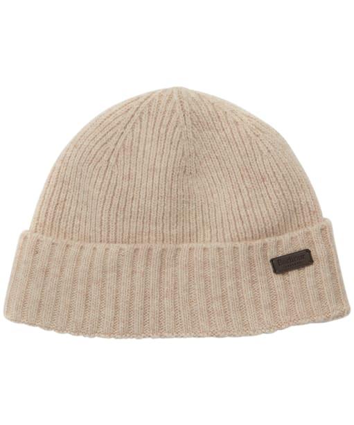 Men's Barbour Carlton Beanie Hat - Linen