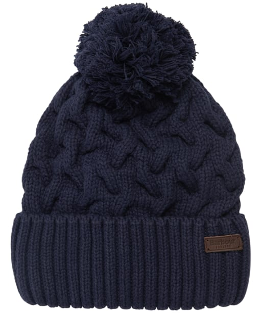 Men's Barbour Gainford Cable Beanie - Navy
