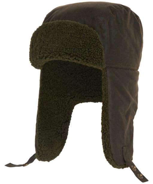 Men's Barbour Morar Wax Trapper Hat - Olive