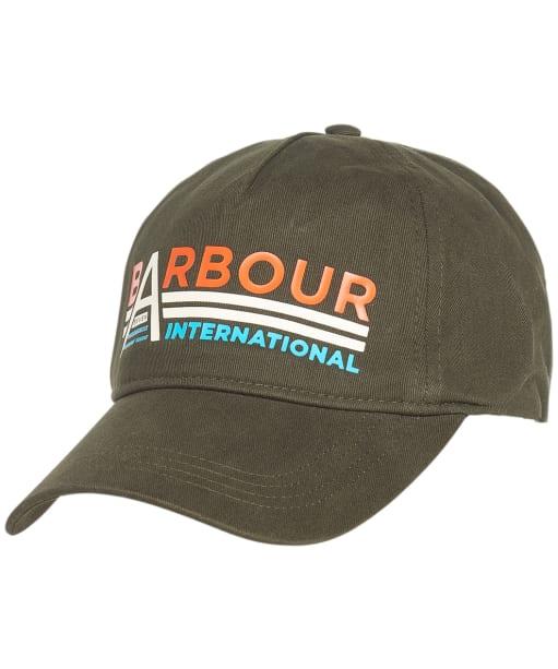 Men's Barbour International Hoxton Graphic Cap - Forest Green