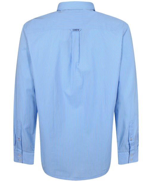 Men's Crew Clothing Classic Micro Stripe Shirt - Sky