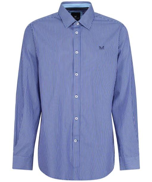 Men's Crew Clothing Classic Micro Stripe Shirt - Ultra Marine