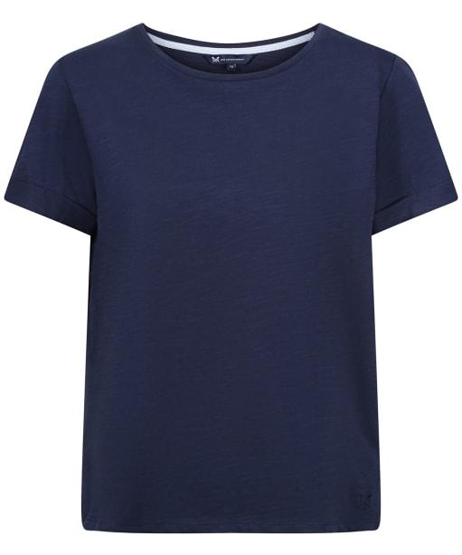 Women's Crew Clothing Perfect Slub T-Shirt - Navy