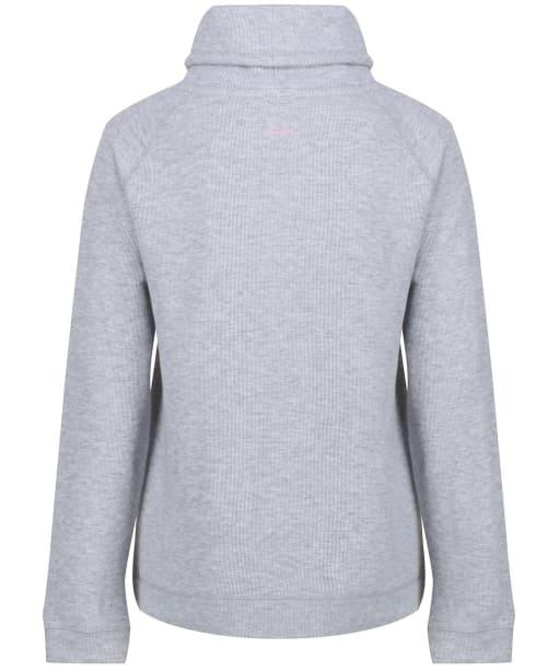 Women's Joules Nadia Ribbed Sweatshirt - Grey Marl