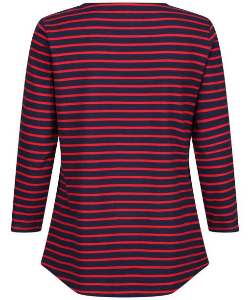 Women's Crew Clothing Essential Breton Top - Navy / Red