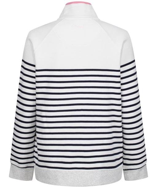 Women's Crew Clothing Half Zip Sweater - White/Navy