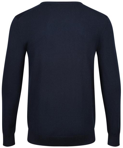 Men's Crew Clothing Merino V Neck Jumper - Dark Navy