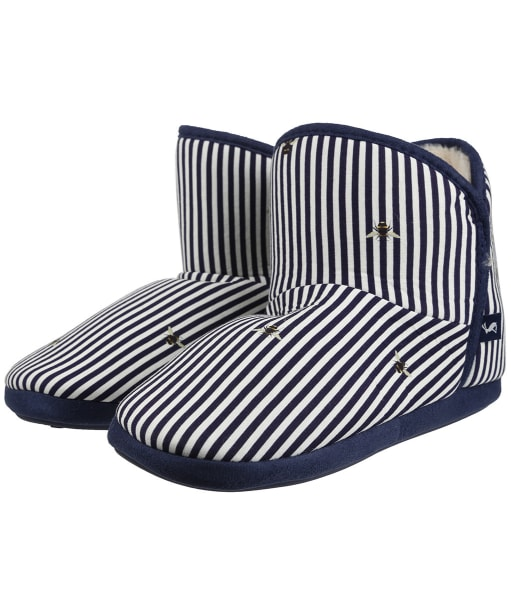 Women's Joules Cabin Slippers - Bee Stripes