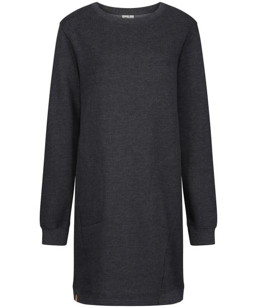 Women's Tentree Fleece Crew Dress - Meteorite Black HT