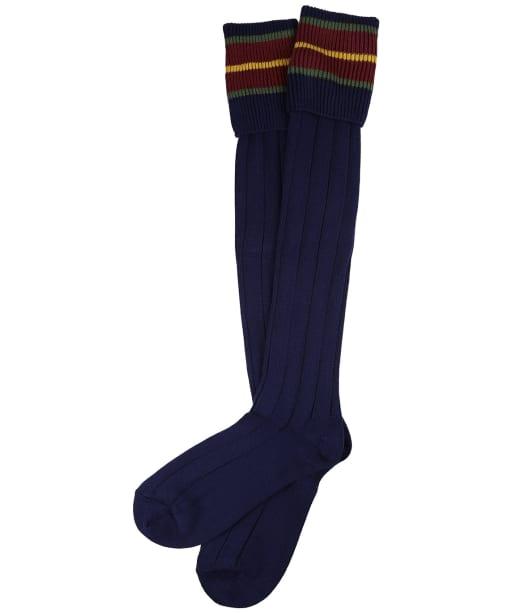 Pennine Nelson Cotton Socks - Marine