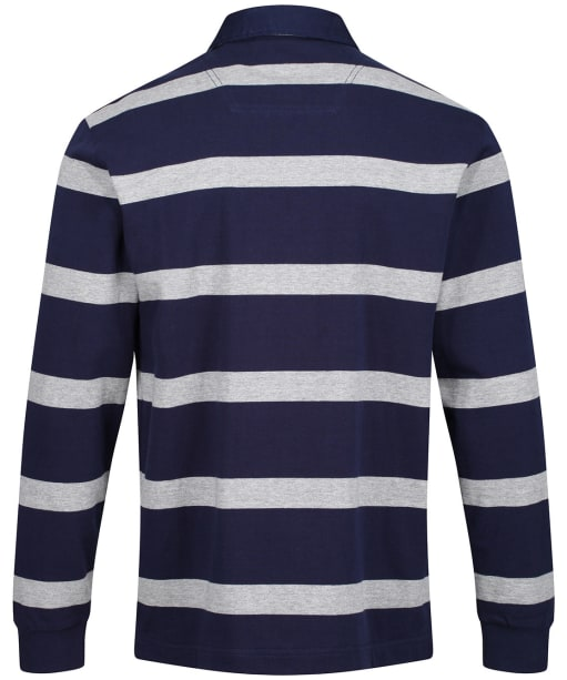 Men's Joules Onside Rugby Shirt - Grey/Navy Stripe