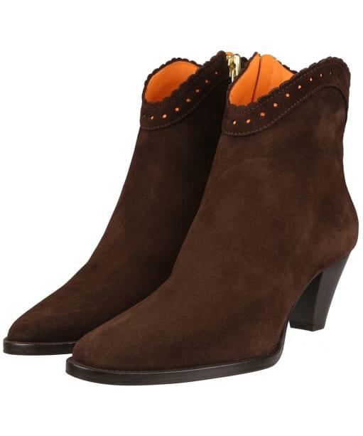 Women's Fairfax & Favor Regina Ankle Boot - Chocolate Suede