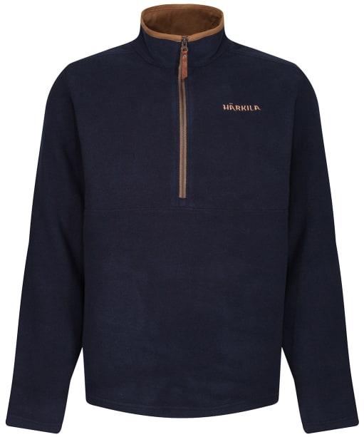 Men's Harkila Sandhem Fleece Pullover - Dark Navy Melange