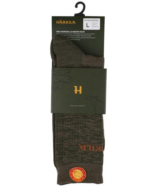 Harkila Pro Hunter 2.0 Short Socks - Willow Green / Shadow Brown
