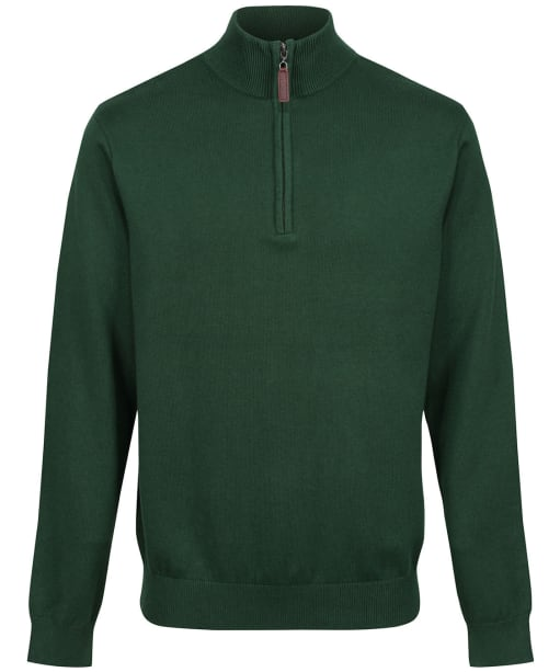 Men's Schoffel Cotton ¼ Zip Jumper - Racing Green