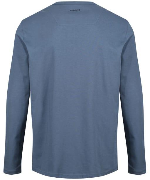 Men's Musto Marina Long Sleeve Logo Tee - Slate Blue