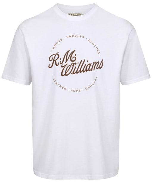Men's R.M. Williams Script Stamp T-Shirt - White