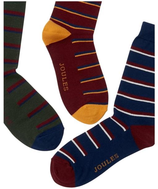 Men's Joules Striking Socks – 3 pack - Multi Stripe
