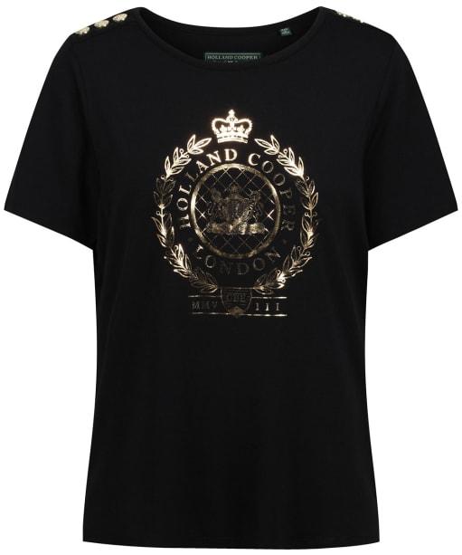 Women's Holland Cooper Ornate Crest Tee - Black