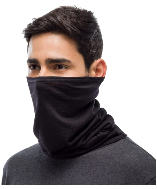 Buff Merino Lightweight Necktube - Black