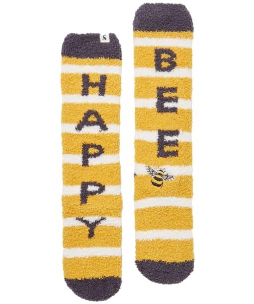 Women's Joules Fab Fluffy Socks - Bee Happy