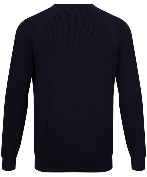 Men's GANT Waffle Ribbed Crew Neck Sweater - Evening Blue