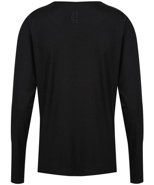 Women's Holland Cooper Long Sleeve Vee Neck Tee - Black