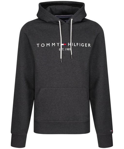 Men's Tommy Hilfiger 1985 Logo Embroidery Hoody - Dark Grey Heather