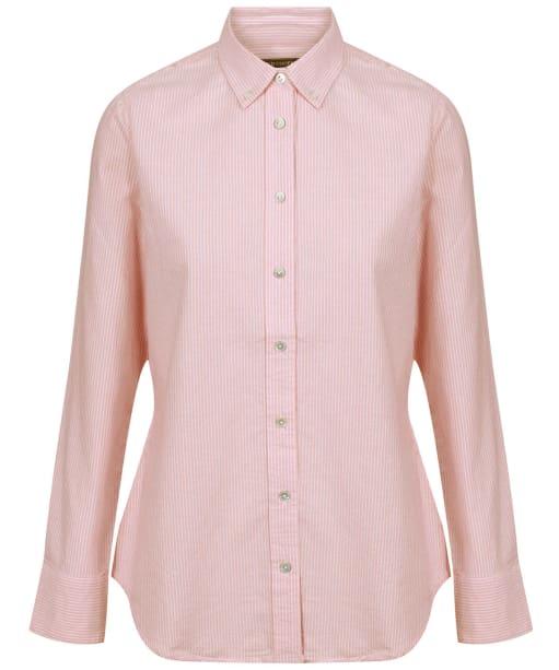 Women's Holland Cooper Classic Oxford Shirt - Tick Stripe Pink