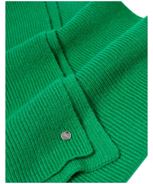 Women's Joules Shinebright Ribbed Scarf - Green