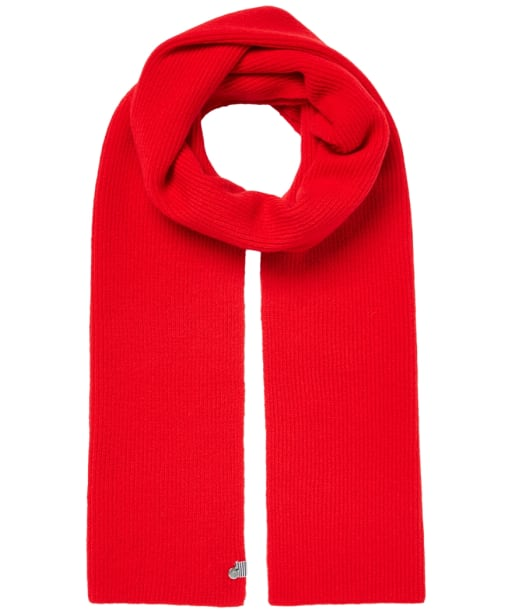 Women's Joules Shinebright Ribbed Scarf - Red Arrow