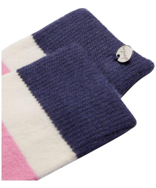 Women's Joules Striped Bed Socks - Light Pink