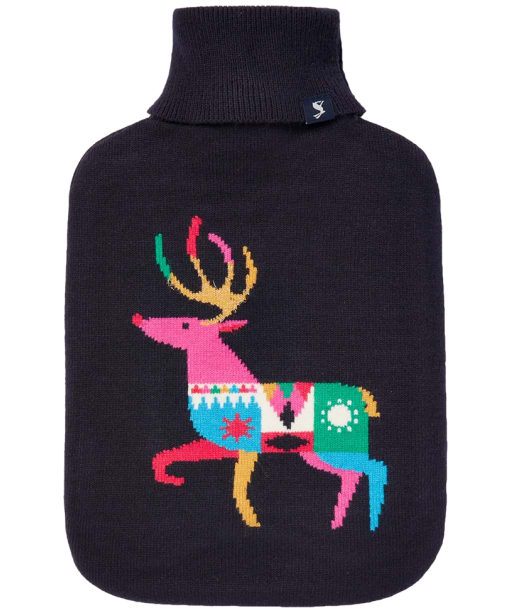 Joules Warmside Hot Water Bottle - Navy Reindeer