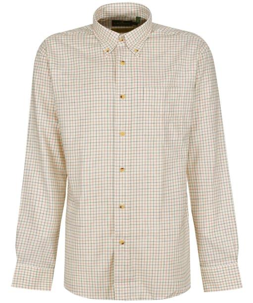 Men's Laksen Paulie Small Check Shirt - REDDISH/FOREST