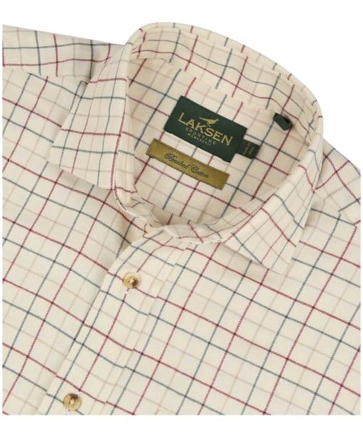 Men's Laksen Robbie Shirt - Sand / Forest / Grape