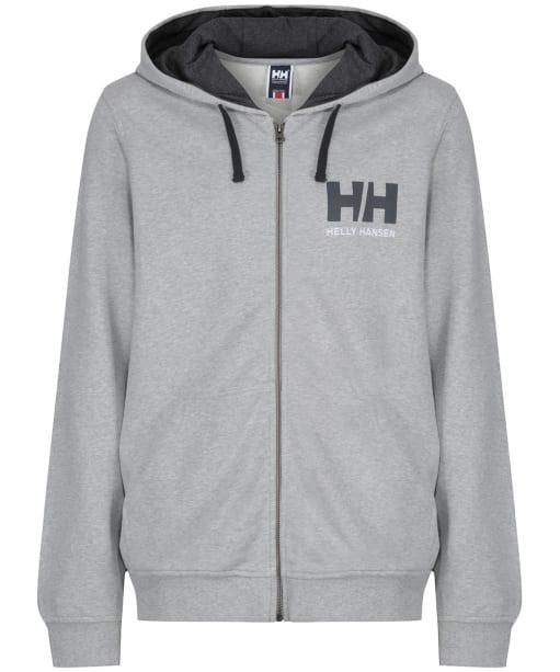 Men's Helly Hansen Logo Full Zip Hoodie - Grey Melange
