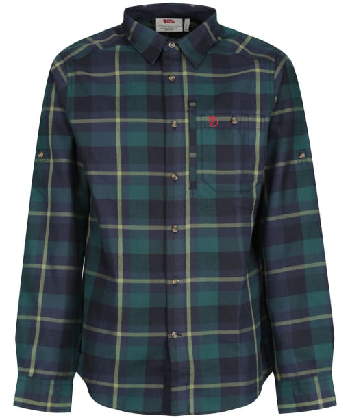 Men's Fjallraven Fjallglim Long Sleeve Shirt - Arctic Green/Navy