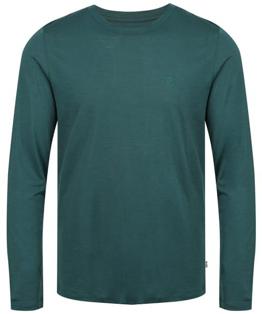 Men's Fjallraven Abisko Wool Top - Arctic Green