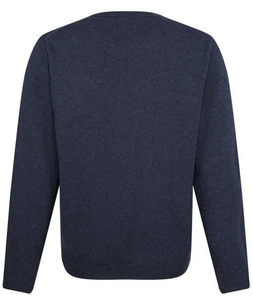 Men's GANT Super Fine Lambswool Sweater - Dark Navy Melange