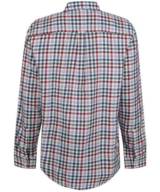 Men's Crew Clothing Classic Check Cotton Wool Flannel Shirt - White/Rhubarb/Blue