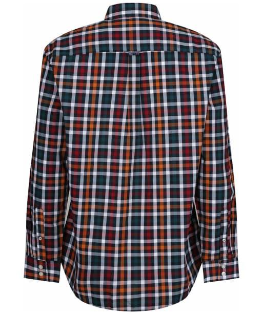 Men's Crew Clothing Classic Poplin Check Shirt - Navy/White/Roux