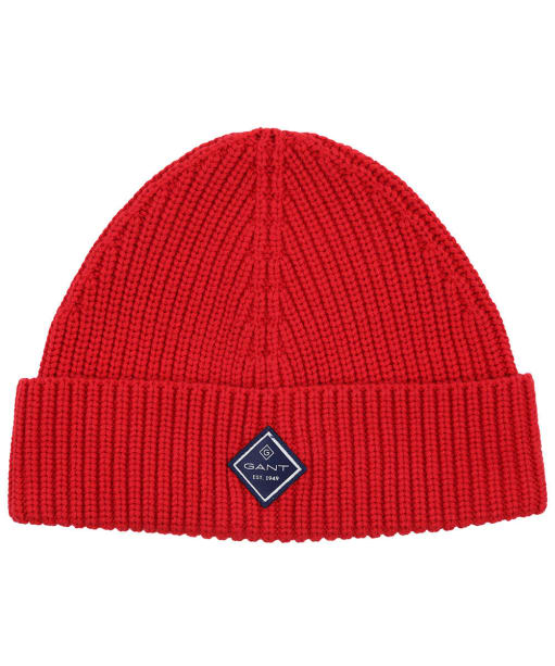 Men's GANT Cotton Rib Knit Hat - Equestrian Red