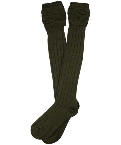Pennine Portland Wool Socks - Olive