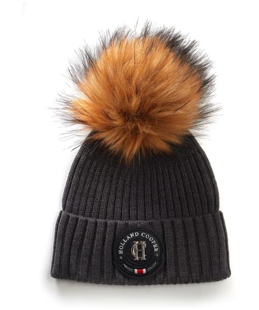 Women's Holland Cooper Equi knit Bobble Hat - Charcoal
