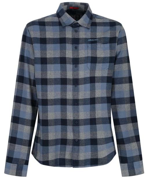Men's Musto Marina Twill Shirt - Slate Blue
